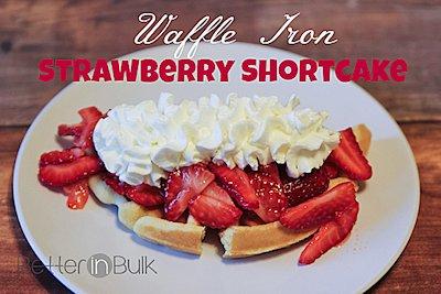 Waffle Iron Strawberry Shortcake Recipe
