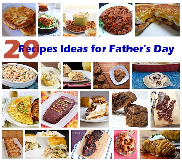 20 Recipes Ideas for Father's Day