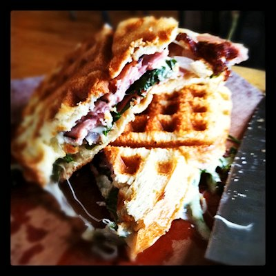 Waffle-Iron Ham and Cheese Panini @ Foodie with Family