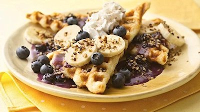 Quick and Fruity Crescent Waffle Recipe