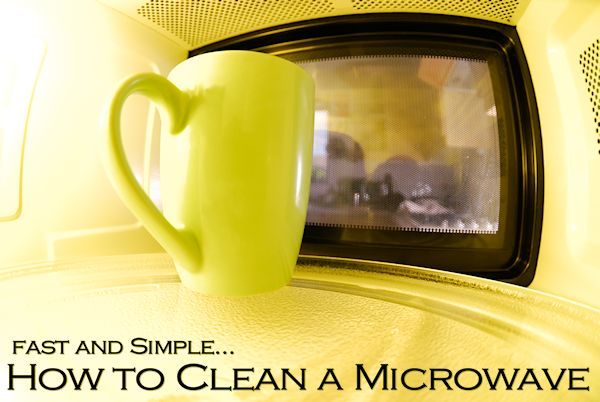 How to Clean a Dirty Microwave
