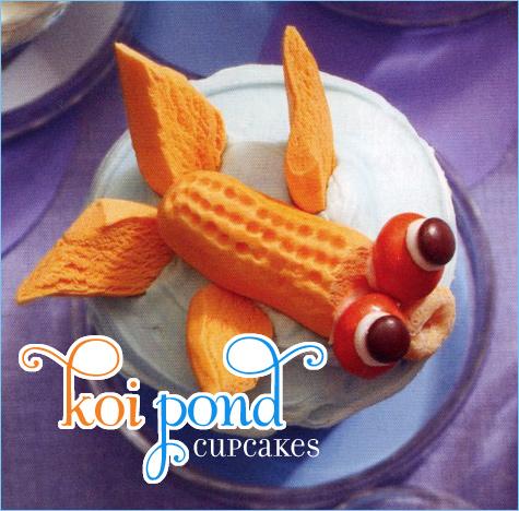 Koi Pond Cupcakes