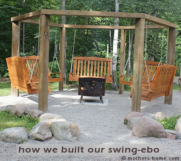 Fire Pit Swing Set As Seen On Pinterest Mother S Home