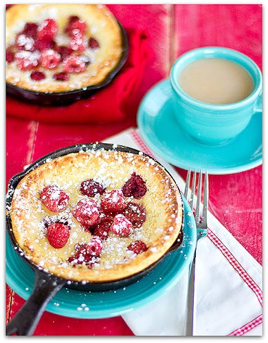 Raspberry Dutch Babies