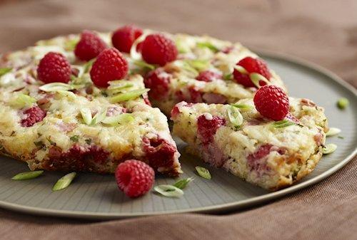 Raspberry Ham Frittata