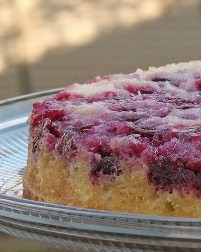 Raspberry Upside Down Cake