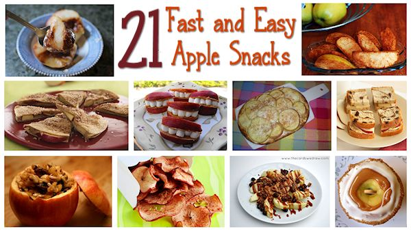 21 Fast and Easy Apple Snacks