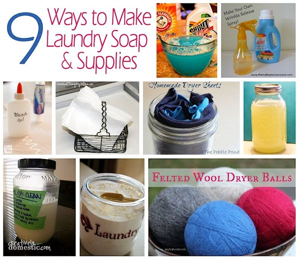 9 Ways to Make Laundry Soap and Supplies
