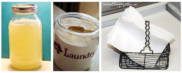 Homemade Laundry Soap and Washing Aids