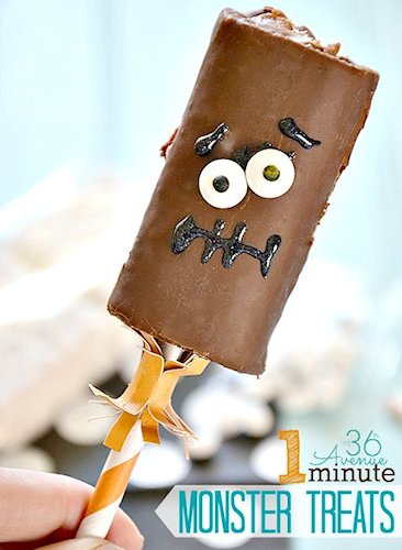 1 Minute Halloween Monster Treats