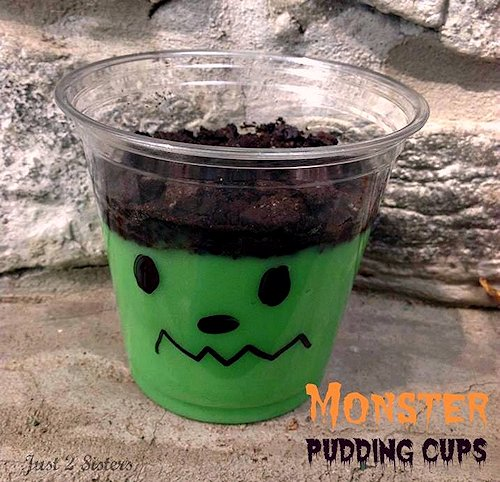 Monster Pudding Cups from Just 2 Sisters