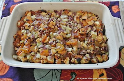 Celery Apricot and Pecan Stuffing