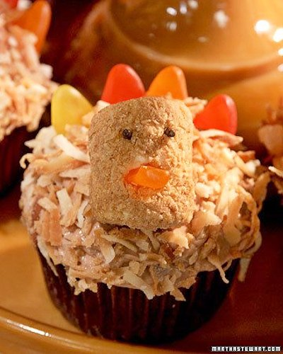 Coconut Turkey Cupcakes