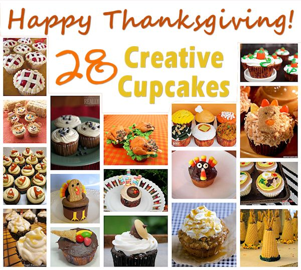 28 Creative Thanksgiving Cupcakes