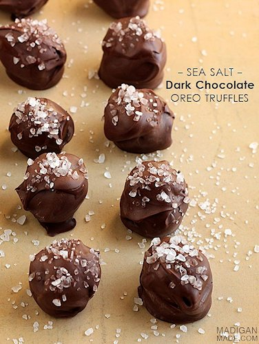 Dark Chocolate and Sea Salt Cookie Balls