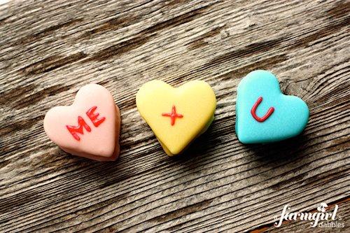 Homemade Marshmallow Conversation Hearts from A Farmgirl's ...