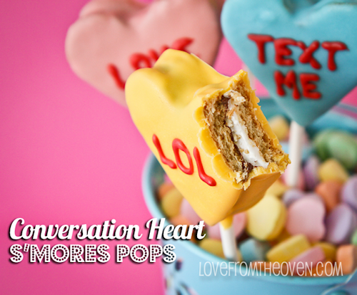 Conversation Heart S'mores Pops Recipes