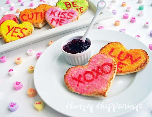 Conversation Heart Toast Recipe