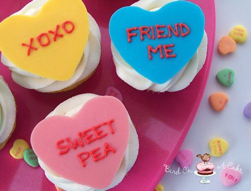 Conversation Heart Cupcake Toppers Recipe