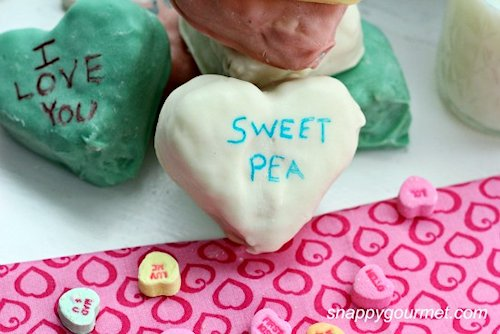 Dipped Conversation Hearts Krispies Treats Recipes