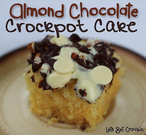 Almond Chocolate Crockpot Cake