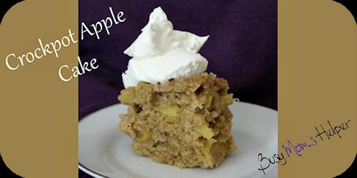 Crockpot Apple Cake Recipe