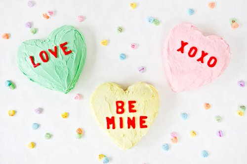 DIY Conversation Heart Cakes Recipe