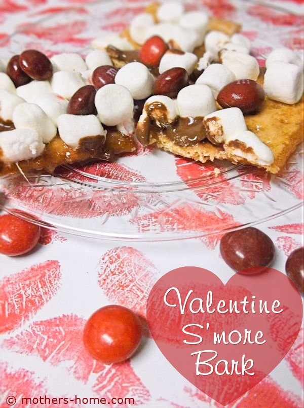 Valentine's Day S'more Bark