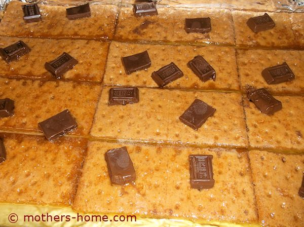 Valentine Smores Place Chocolate Bars