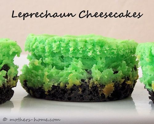 Mini Leprechaun Cheesecake Recipe