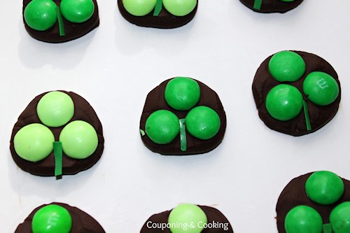 Dark Chocolate Shamrock Candies