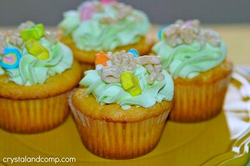 Lucky Charm Cupcakes