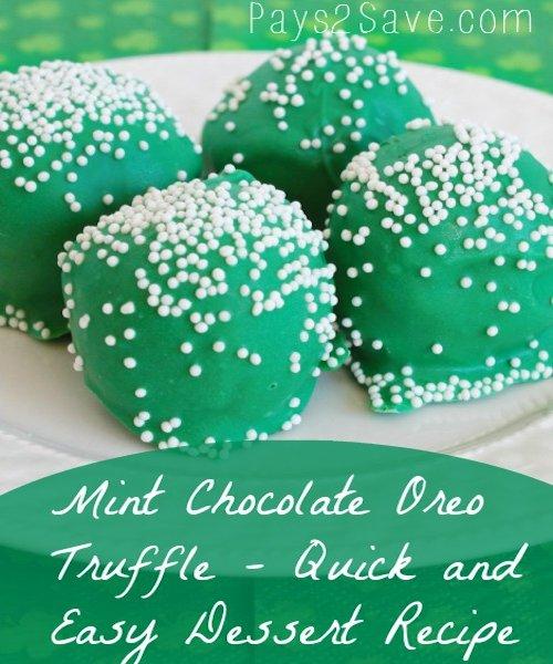 Mint Chocolate Oreo Truffle