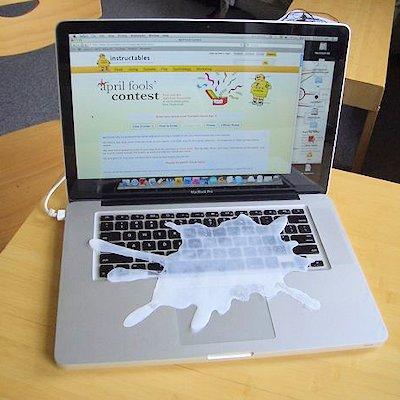 Computer Milk Splatter