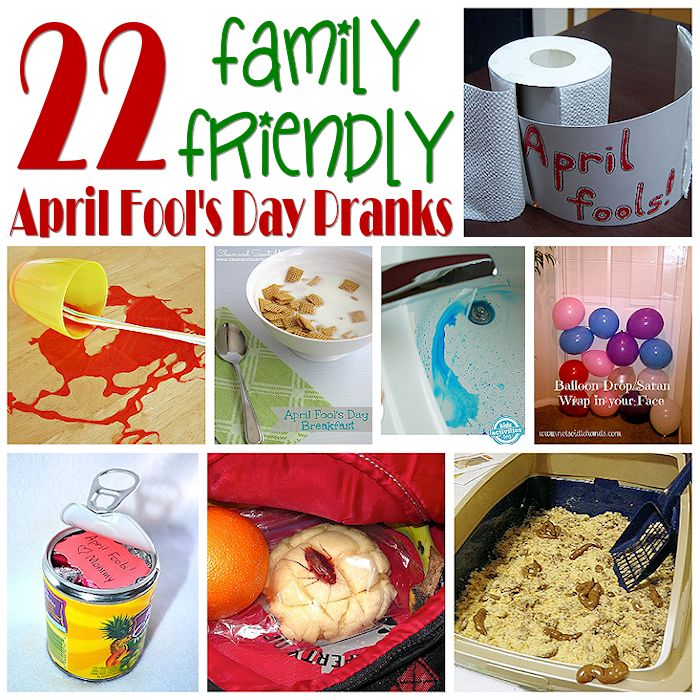22 Family Friendly April Fool's Day Pranks