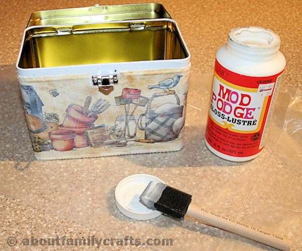 Cover Box with Fabric and Mod Podge