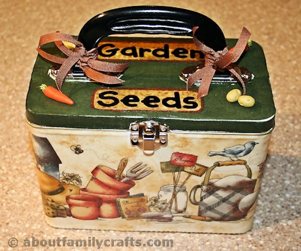 Decorate the Garden Seed Box
