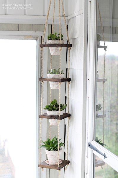 DIY Vertical Plant Hanger
