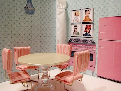 binder into a doll house