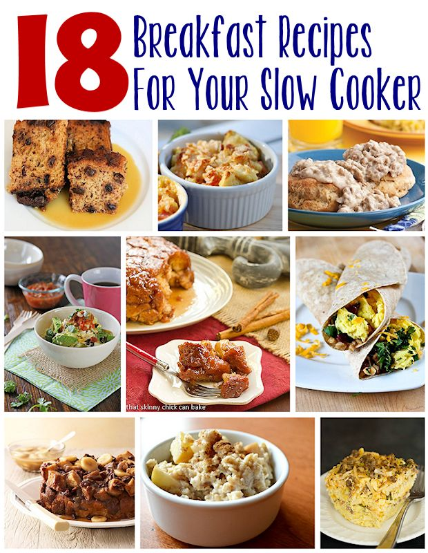 18 Slow Cooker Breakfast Recipes