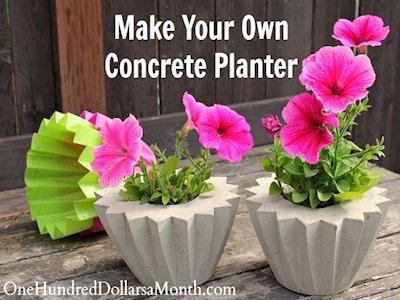 Make Your Own Concrete Planters