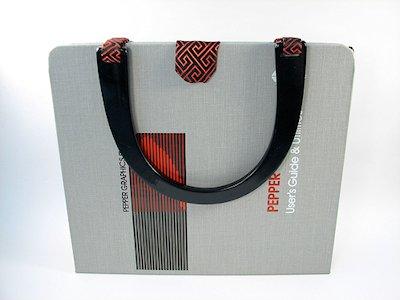 Turn a binder into a purse
