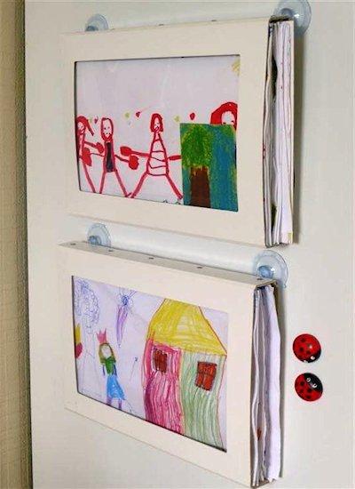 organizing and displaying artwork