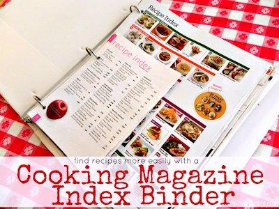 Organize your favorite recipe magazines