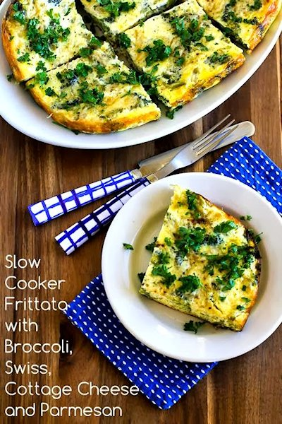 Slow Cooker Frittata Recipe with Broccoli