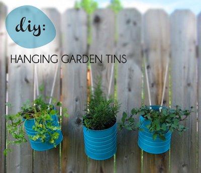 DIY Hanging Flower Tins