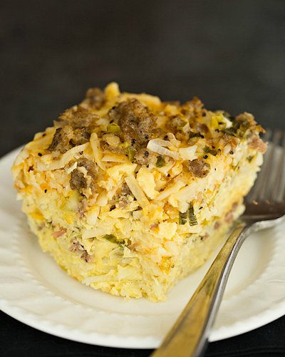 Slow Cooker Sausage Hash Brown Casserole