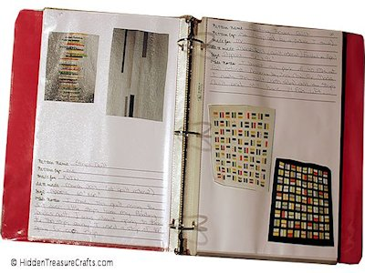 make a journal to keep track of quilts