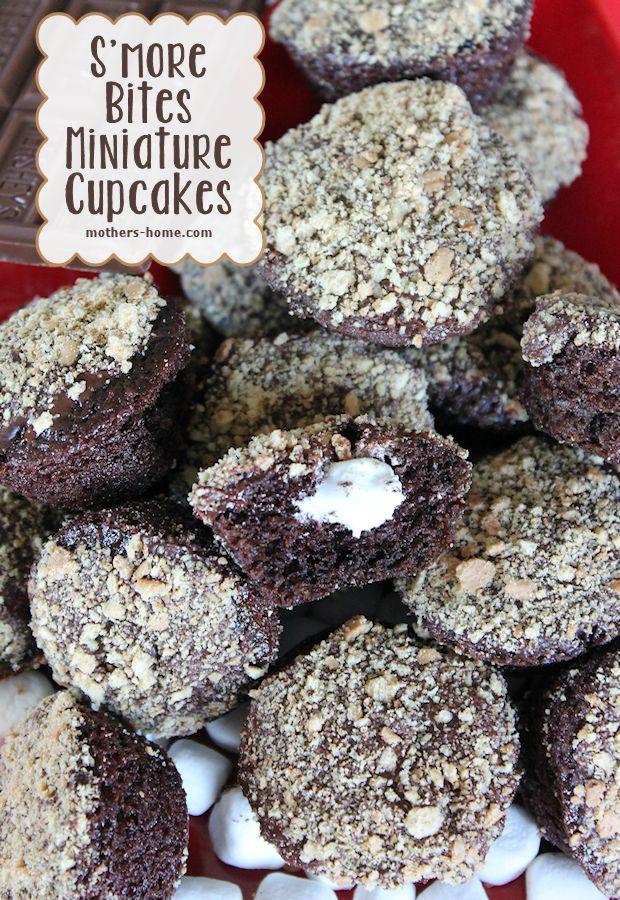 smore flavored miniature cupcakes