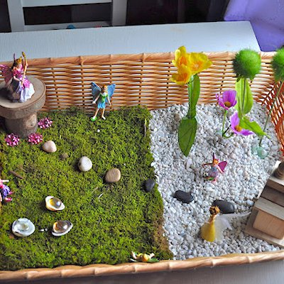 DIY Fairy Garden in a Basket